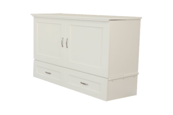 Country model white cabinet bed better than a murphy bed