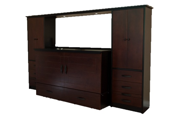 Closed Storage Bed