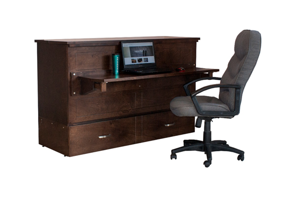 Study Buddy cabinet bed with desk student spacesaver